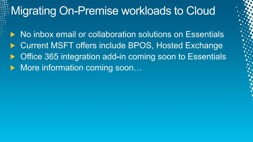 Migrating On-Premise workloads to Cloud