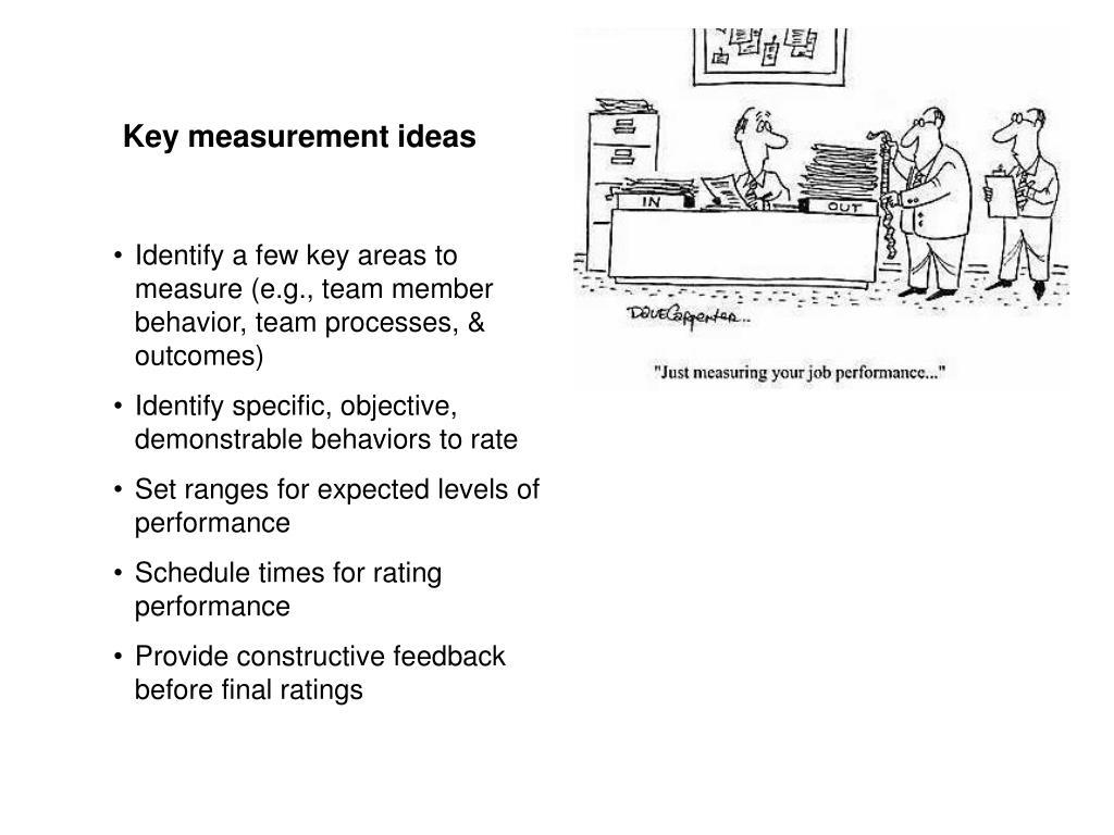 Key measurement ideas