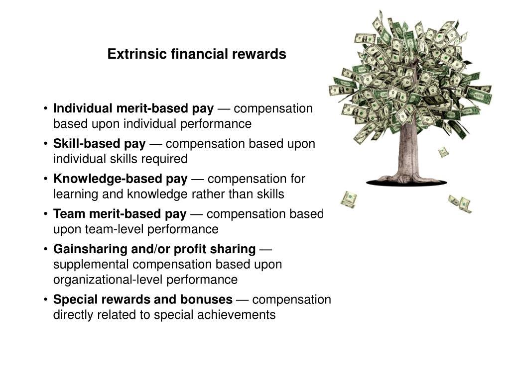 Extrinsic financial rewards