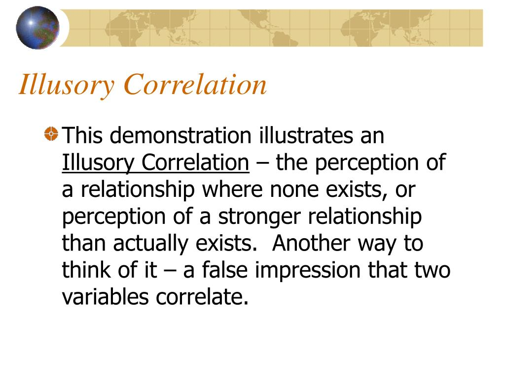 Illusory Correlation