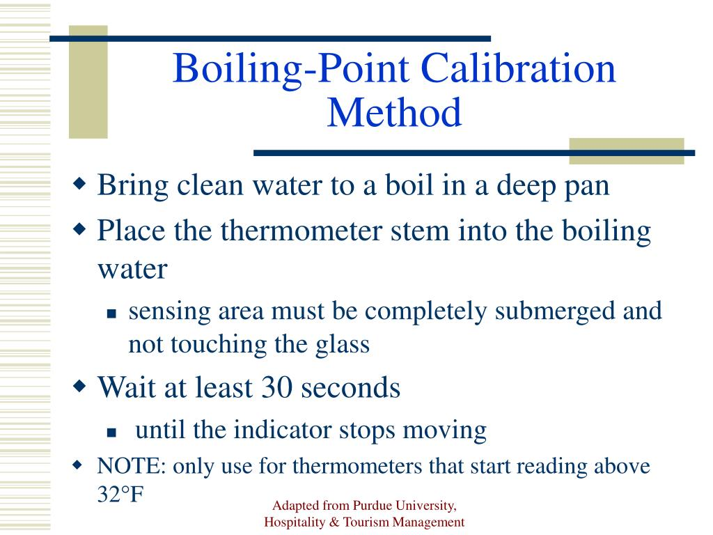 Boiling-Point Calibration Method