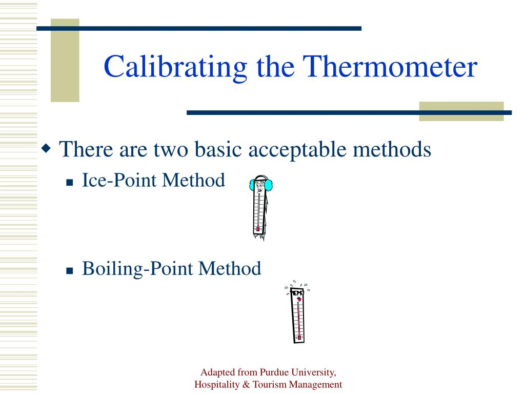 Calibrating the Thermometer
