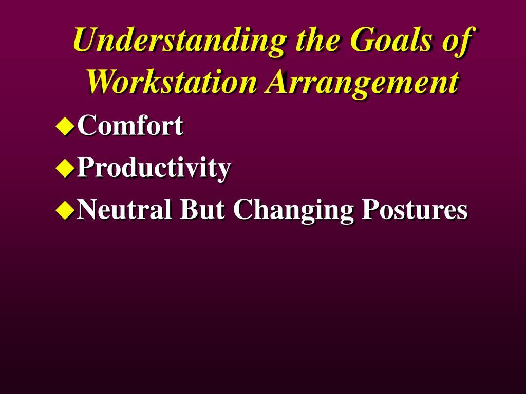 Understanding the Goals of Workstation Arrangement