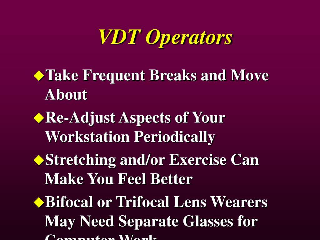 VDT Operators