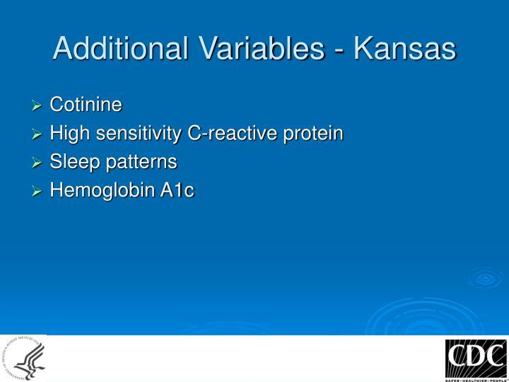 Additional Variables - Kansas