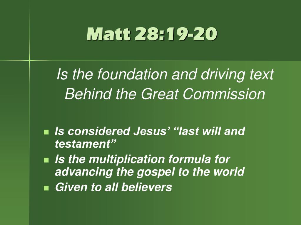 Matt 28:19-20