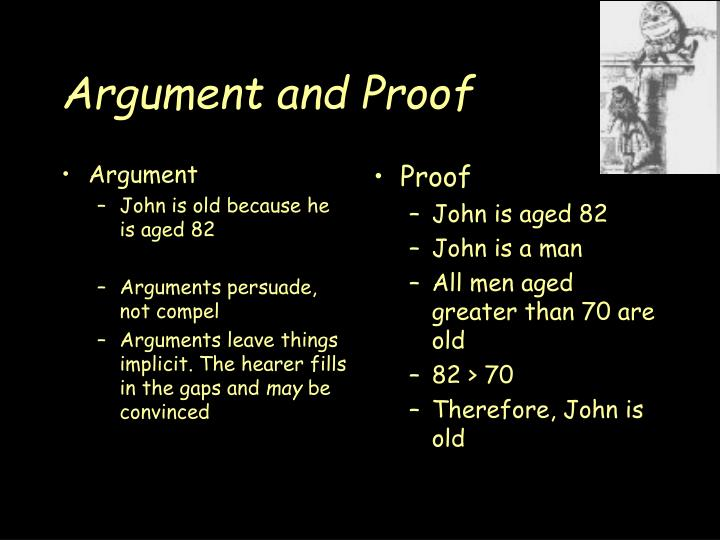 Argument and proof