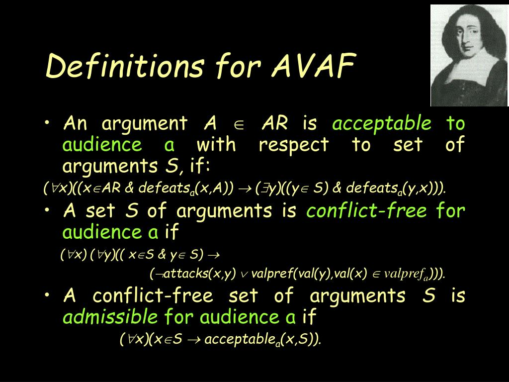 Definitions for AVAF