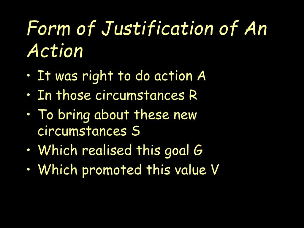 Form of Justification of An Action