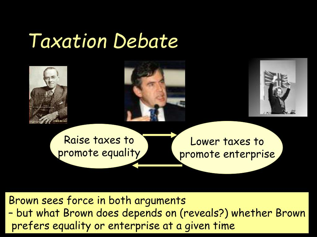 Lower taxes to