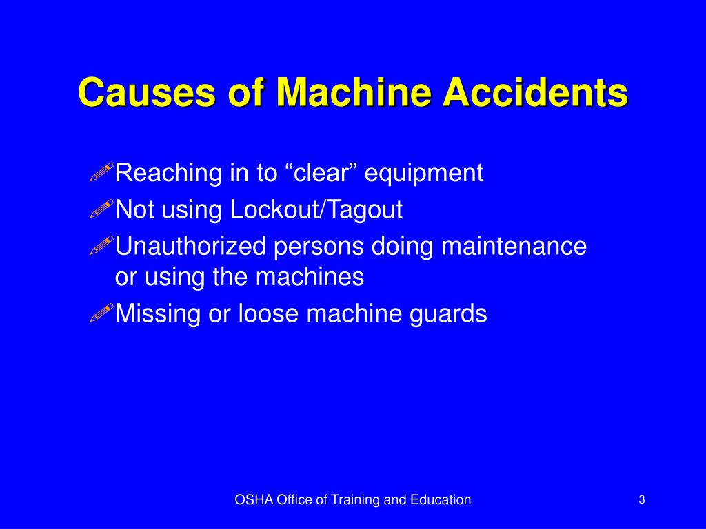 Causes of Machine Accidents