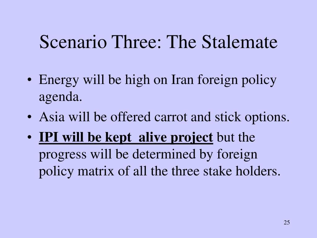 Scenario Three: The Stalemate
