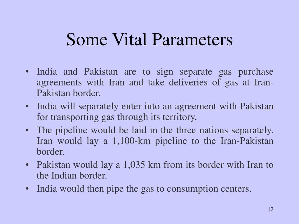 Some Vital Parameters