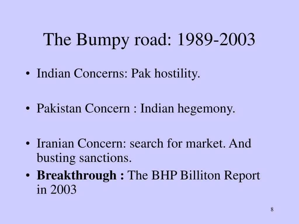 The Bumpy road: 1989-2003