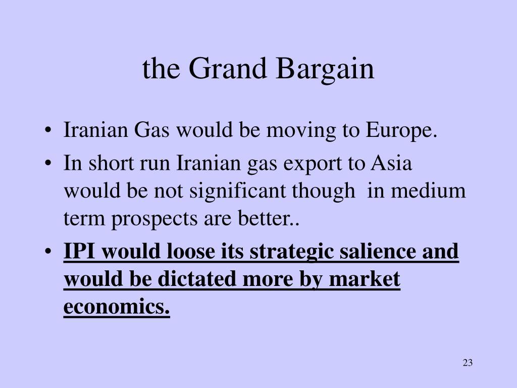 the Grand Bargain
