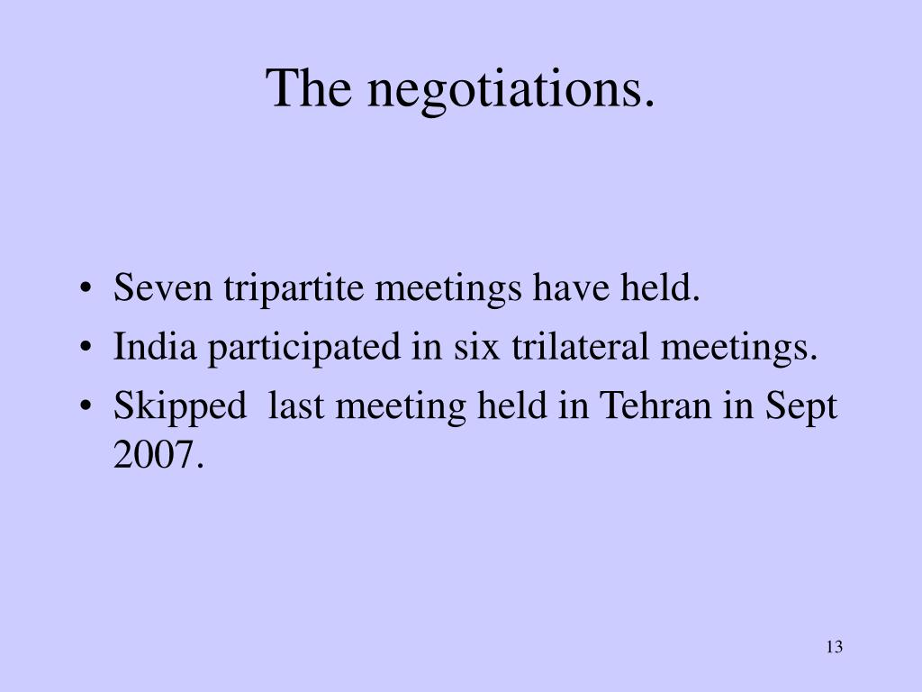 The negotiations.