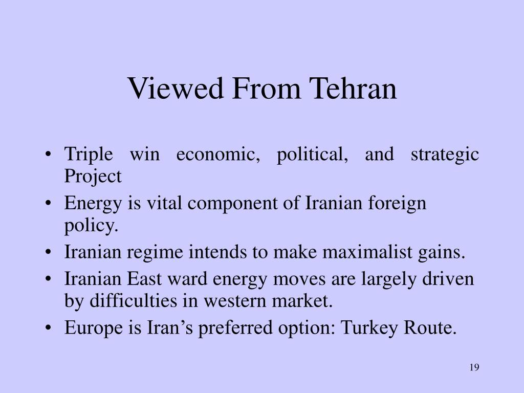Viewed From Tehran