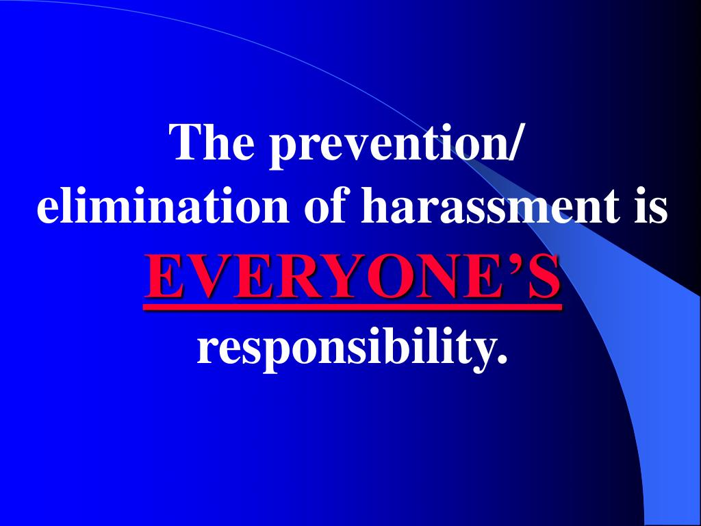The prevention/