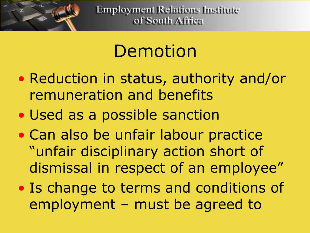 Demotion