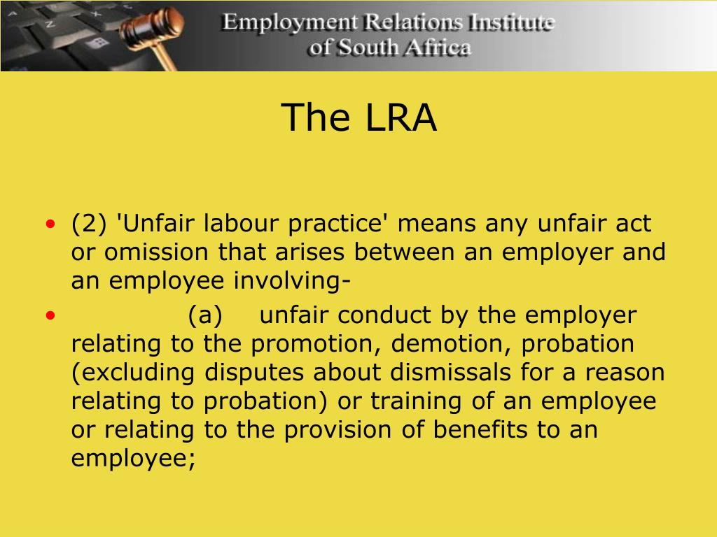 unfair labour practices Definition of unfair labor practices in the legal dictionary - by free online english dictionary and encyclopedia what is unfair labor practices.