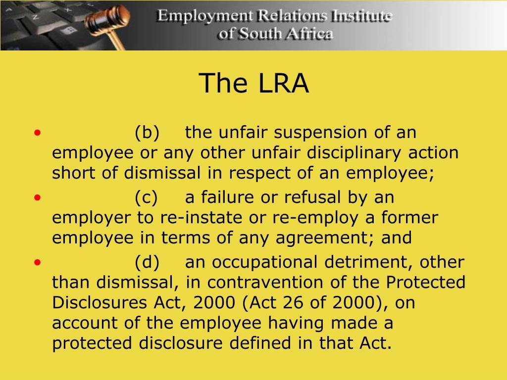 The LRA