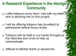 a research experience in the aboriginal community16