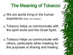 the meaning of tobacco