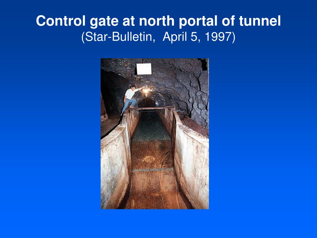 Control gate at north portal of tunnel