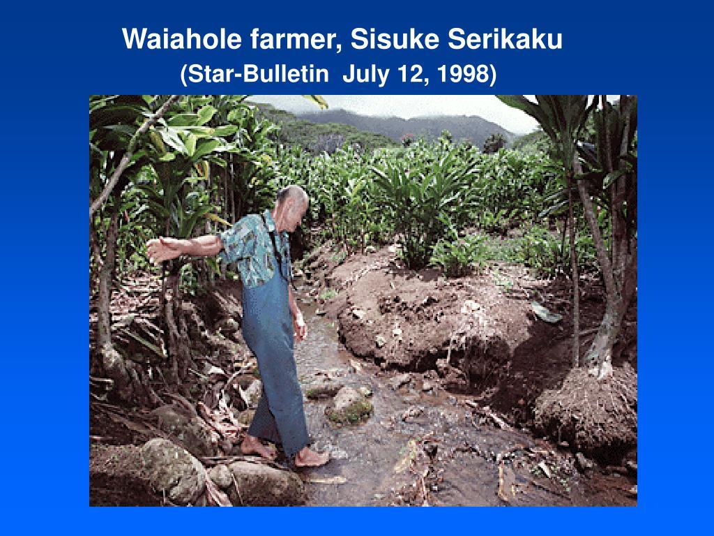 Waiahole farmer, Sisuke Serikaku