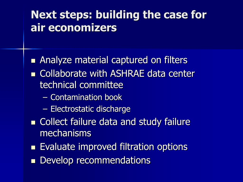 Next steps: building the case for  air economizers