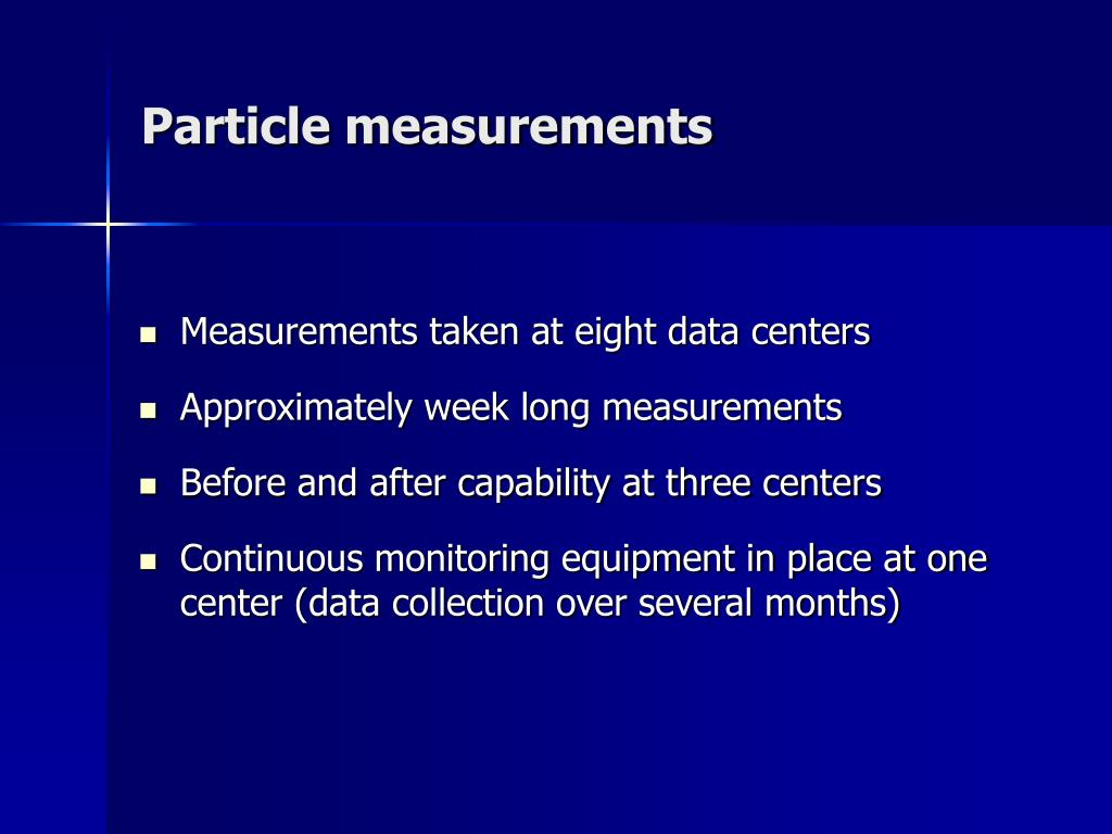 Particle measurements