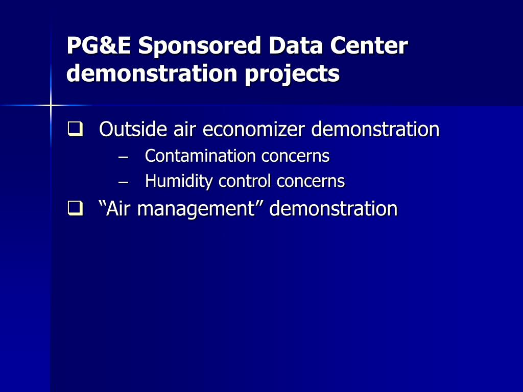 PG&E Sponsored Data Center
