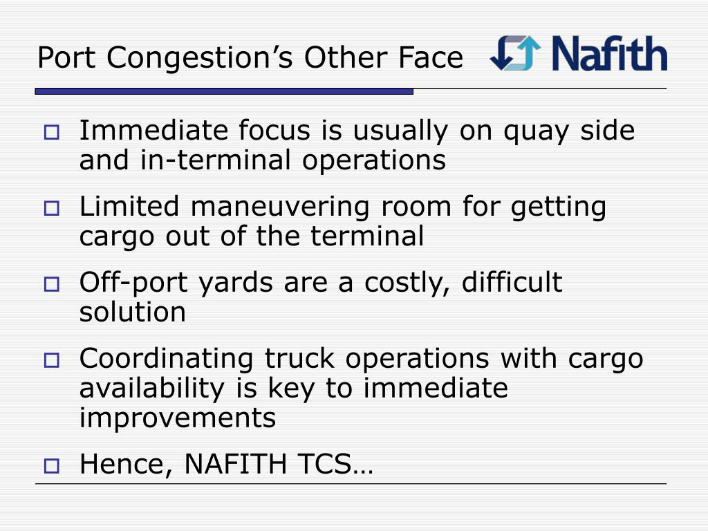 Port Congestion's Other Face