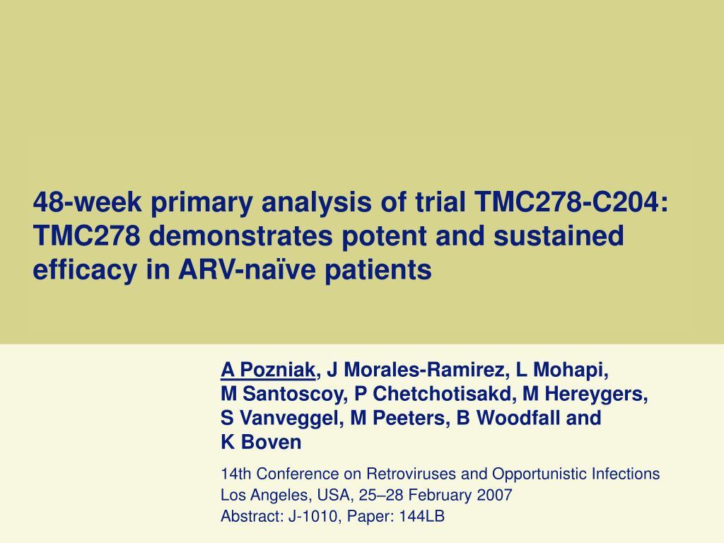 48-week primary analysis of trial TMC278-C204: