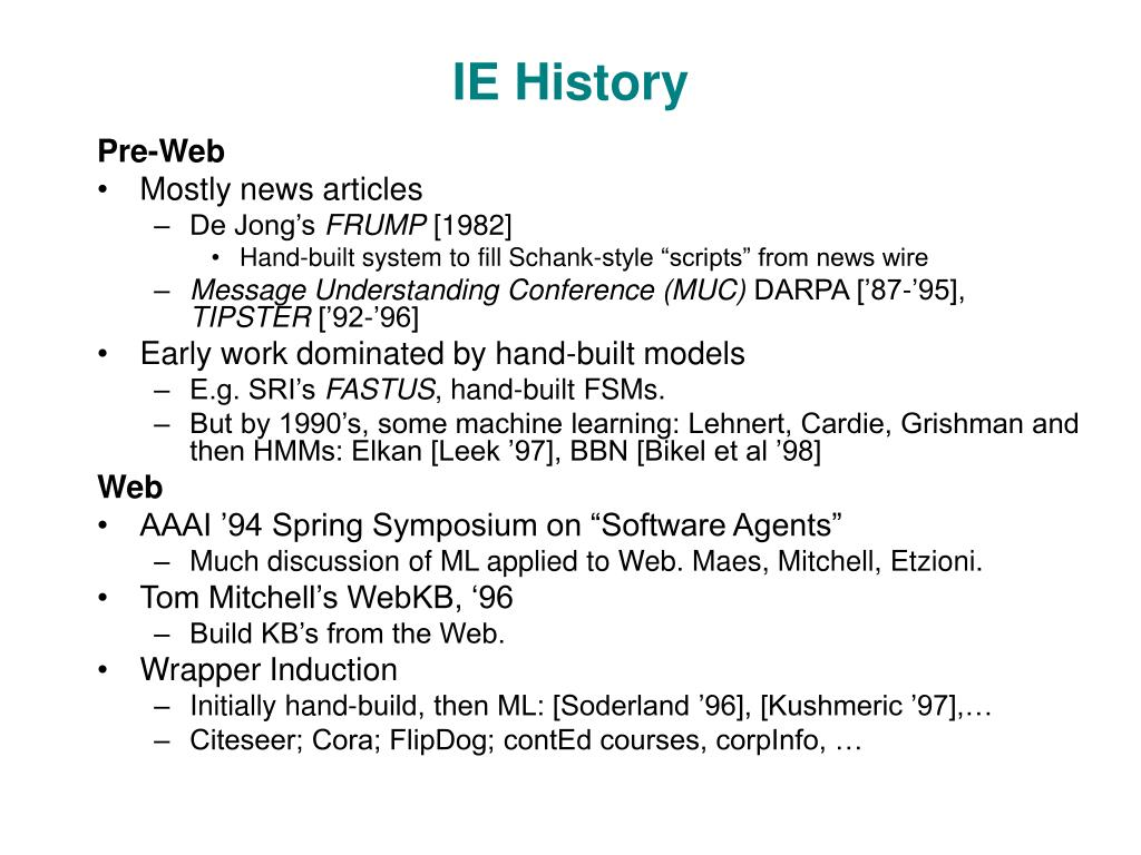 IE History