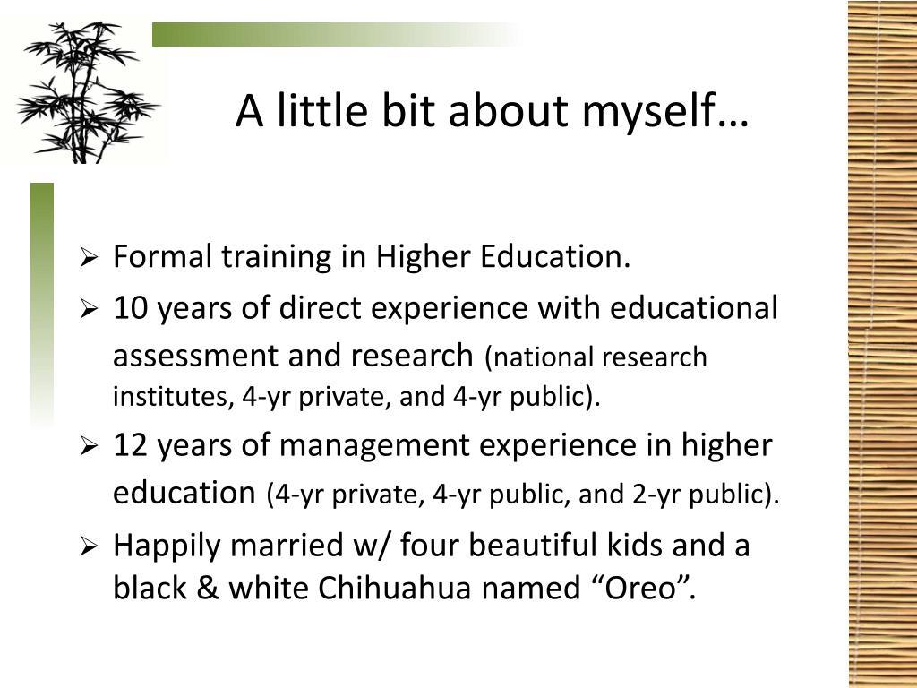 A little bit about myself…