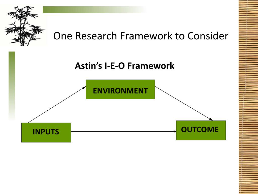 One Research Framework to Consider