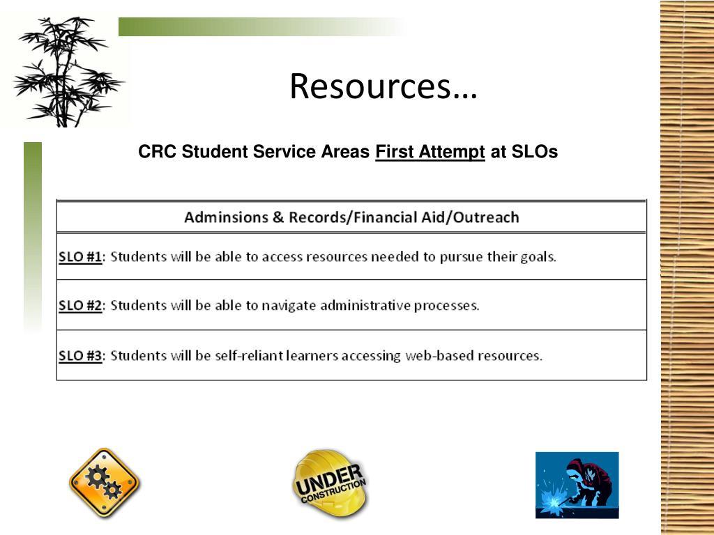 Resources…