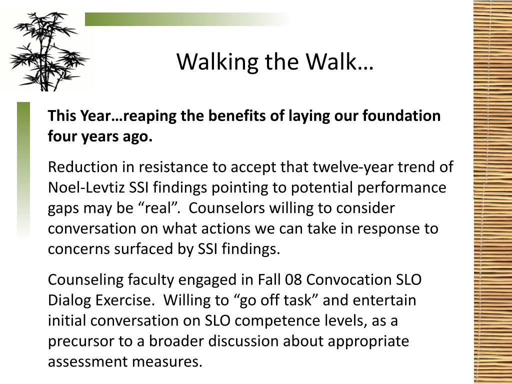 Walking the Walk…