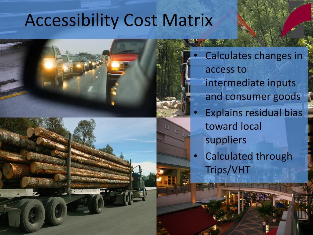 Accessibility Cost Matrix
