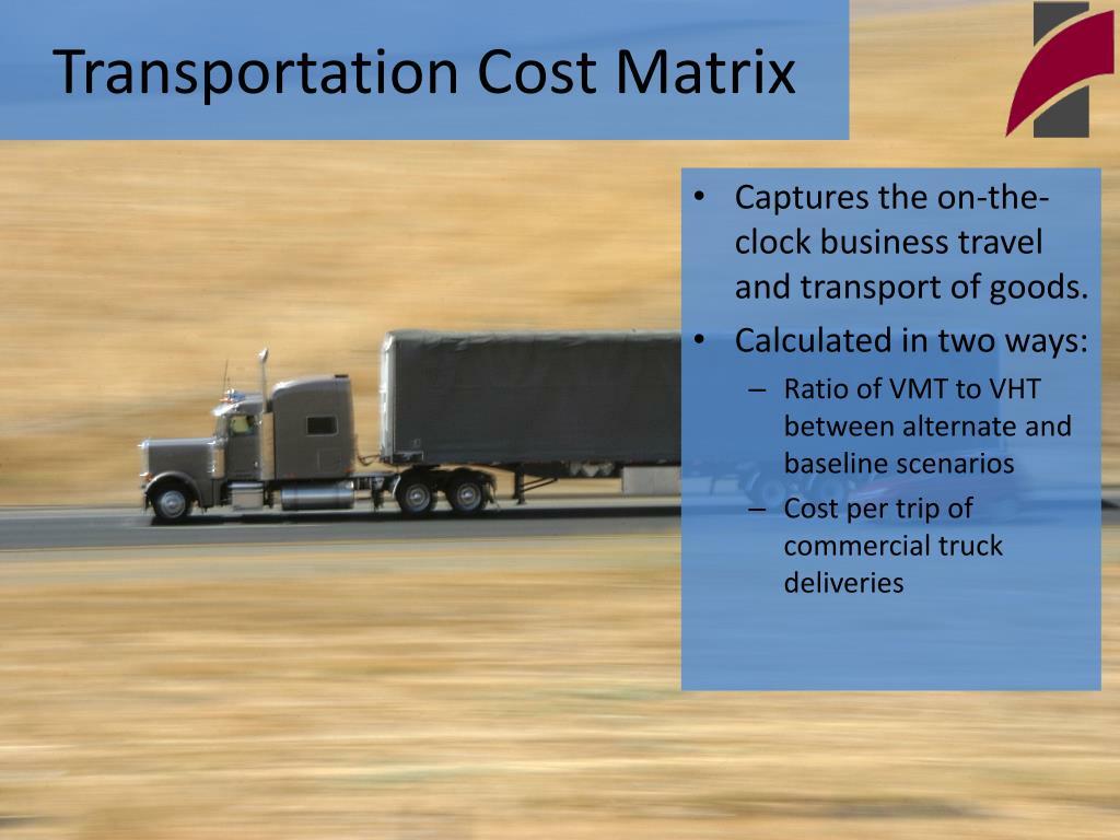 Transportation Cost Matrix