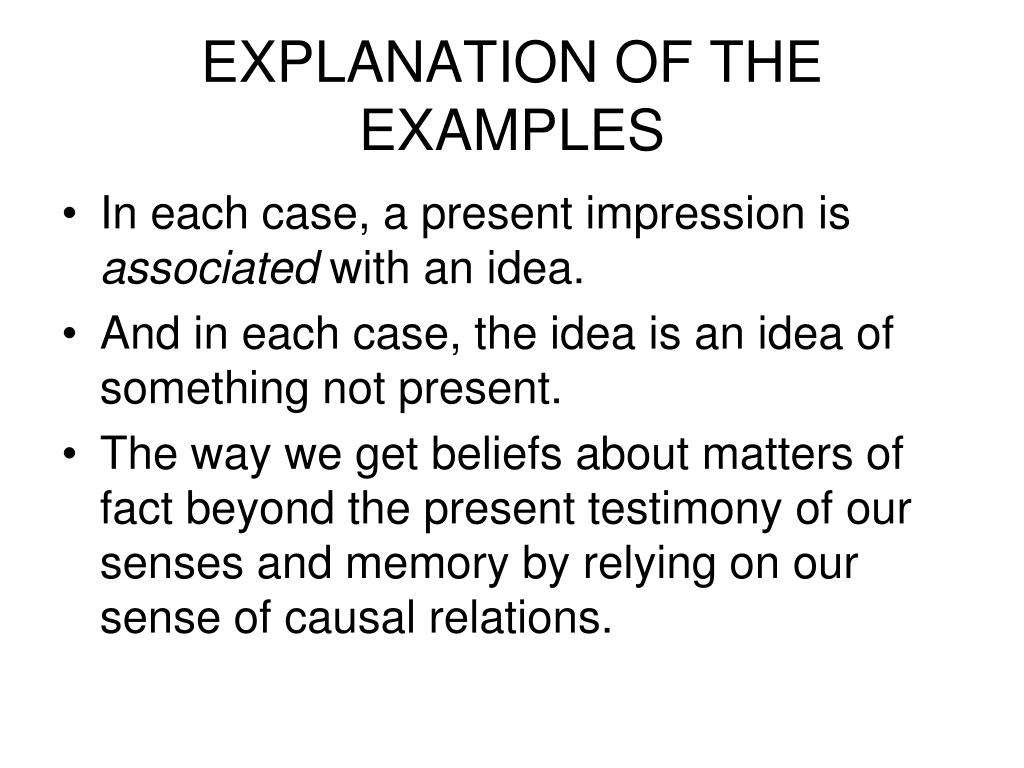EXPLANATION OF THE EXAMPLES