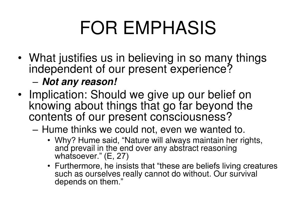 FOR EMPHASIS
