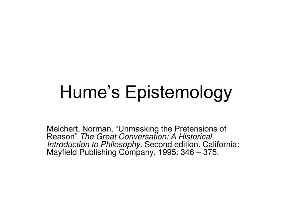 Hume's Epistemology