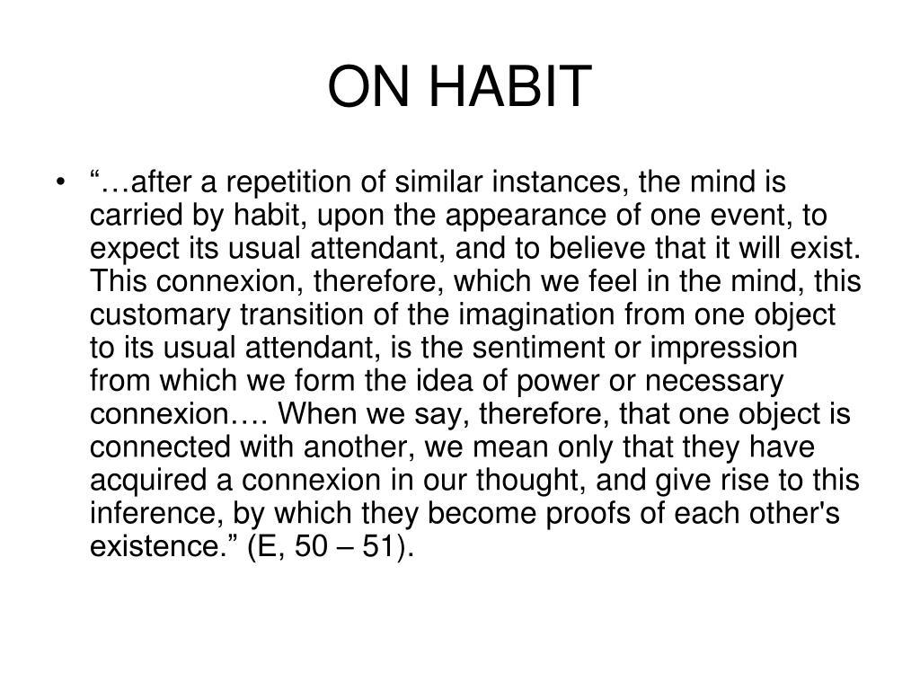 ON HABIT