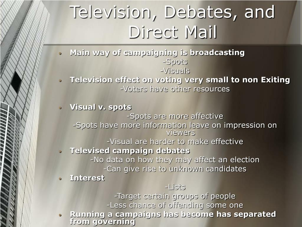 Television, Debates, and Direct Mail