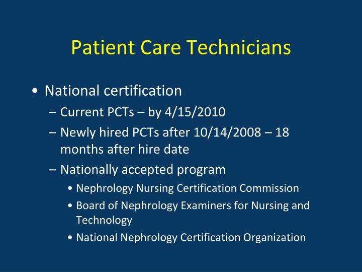 Patient Care Technicians