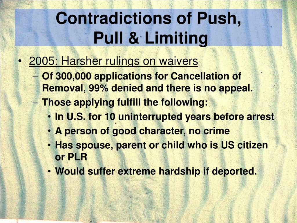 Contradictions of Push,