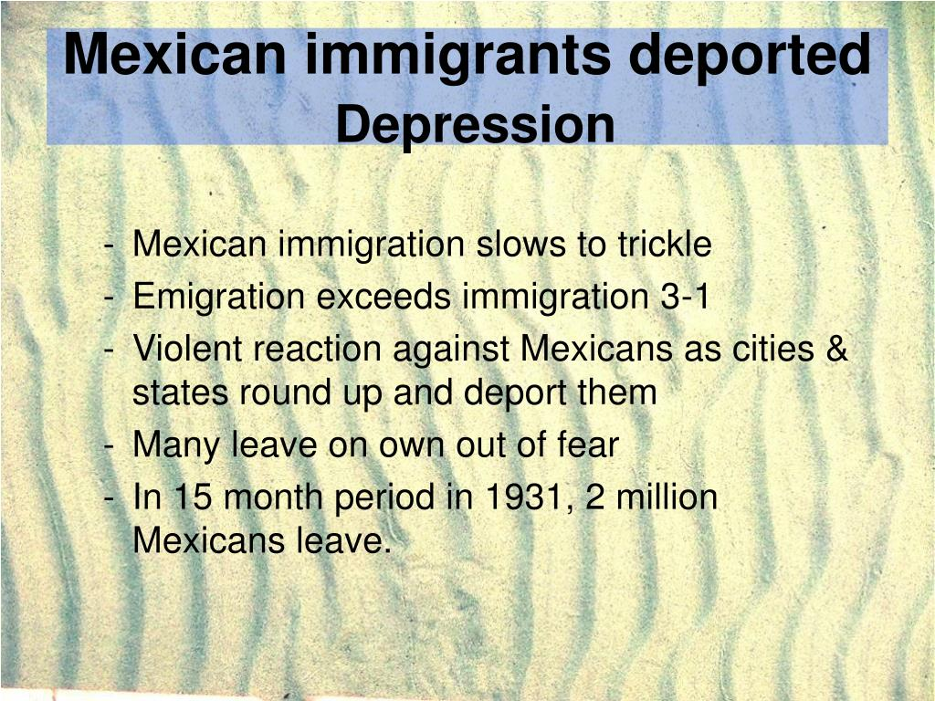 Mexican immigrants deported