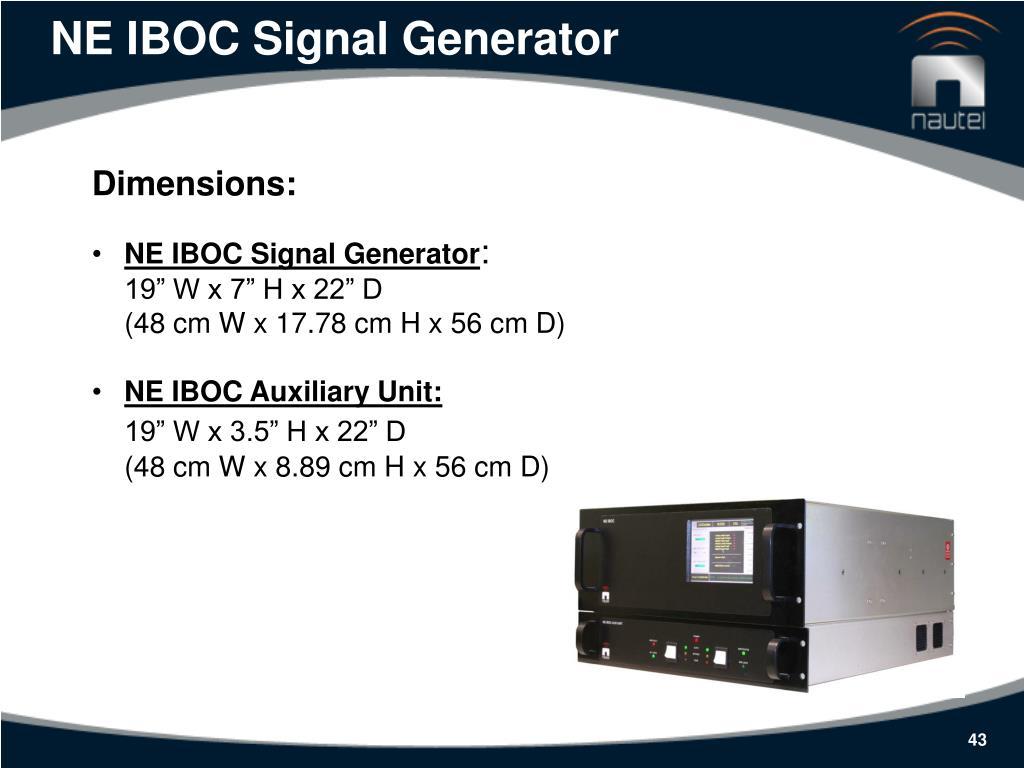 NE IBOC Signal Generator